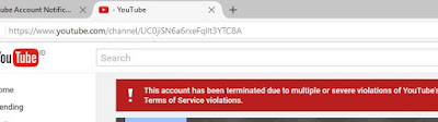 Cara Mengetahui URL Channel Youtube Yang Ditangguhkan