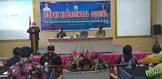 Asisten I Bidang Pemerintahan  Secara Resmi Membuka Rakor  Sosial Se-provinsi Jambi