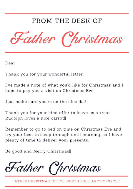From Father Christmas letter