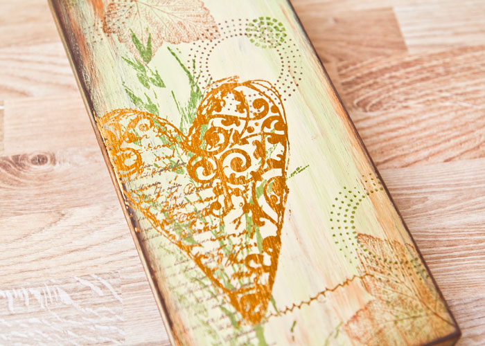 An Autumn-inspired Wood block by Kim Dellow