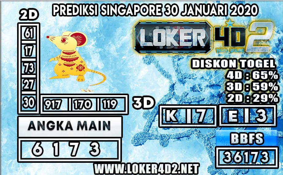 PREDIKSI TOGEL SINGAPORE LOKER4D2 30 JANUARI 2020