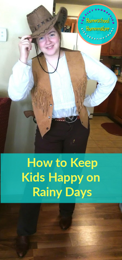 How do you Keep Kids Happy on Rainy Days?  Cowboy Costume Dress Up