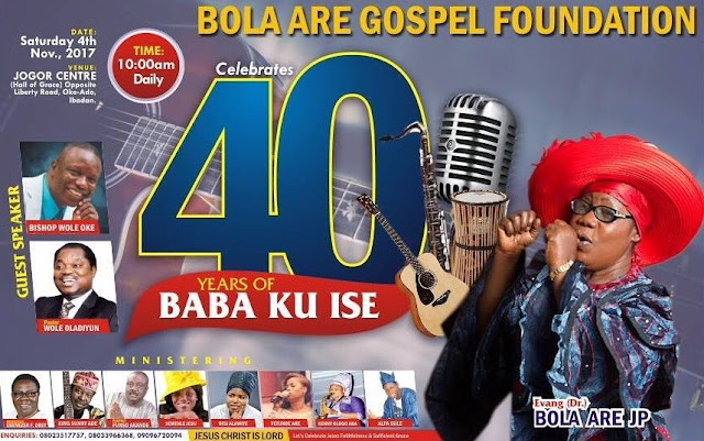 bola are 40 years baba ku ise ibadan
