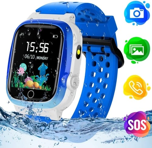 Review Themoemoe Waterproof Kids Smartwatch with GPS Tracker