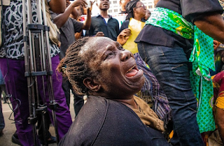 Black Monday in Owerri as women clad in black wail