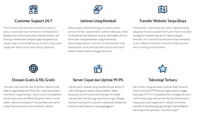 Web Hosting terbaik Indonesia - Layanan di Hosting24