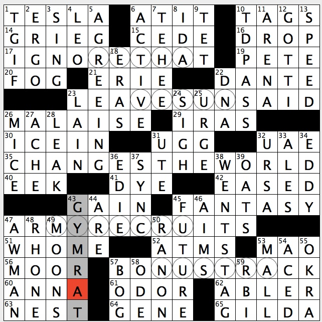 Rex Parker Does The Nyt Crossword Puzzle Primary Outflow Of Lake Geneva Tue 5 21 19 Automaker With Supercharger Stations