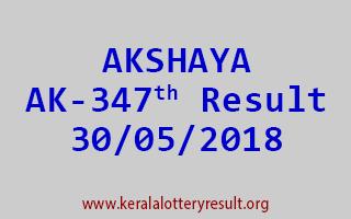 AKSHAYA Lottery AK 347 Result 30-05-2018