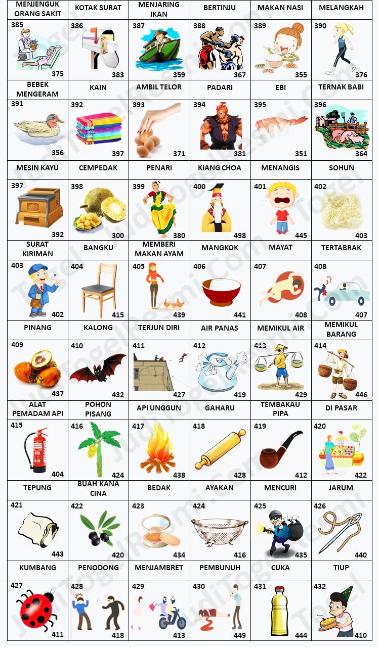Buku Mimpi 3D Bergambar 385-432
