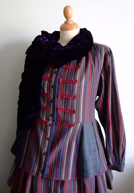 Victoriana peplum jacket upcycled by Karen Vallerius