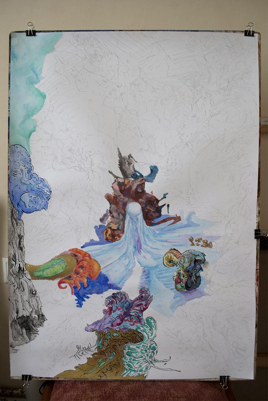 Crystal Art Piece by Kostas Gogas - Work in Progress Update 2017-12-11