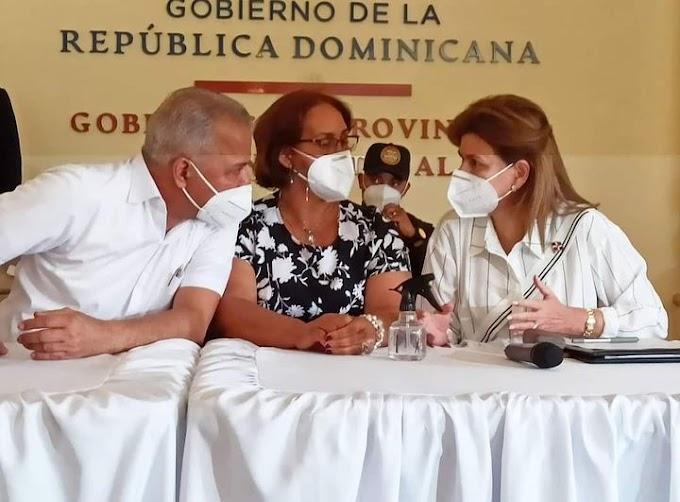 Vice presidente Raquel Peña sostiene reunión para reforzar vacunación en San Cristóbal