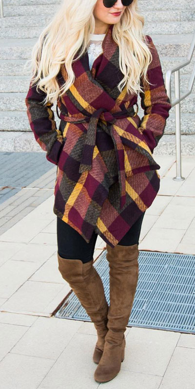 Are you wondering which pieces of clothing are in style this winter? Here we've prepared a complete list of the best winter fashion lookbook. Women's Outfit Ideas via higiggle.com | #winterstyle #fashion #coat
