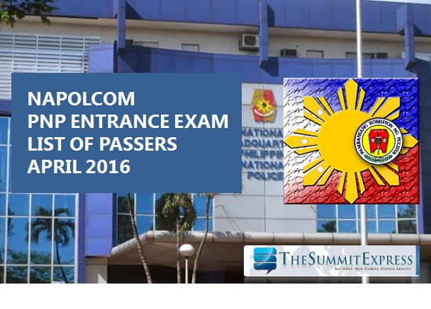 NAPOLCOM releases April 2016 PNP Entrace exam results