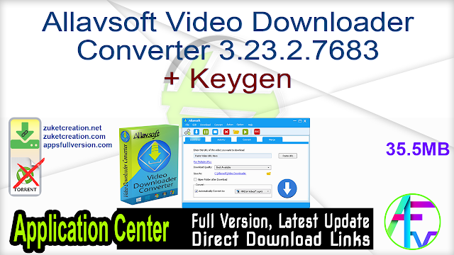 Allavsoft Video Downloader Converter 3.23.2.7683 + Keygen