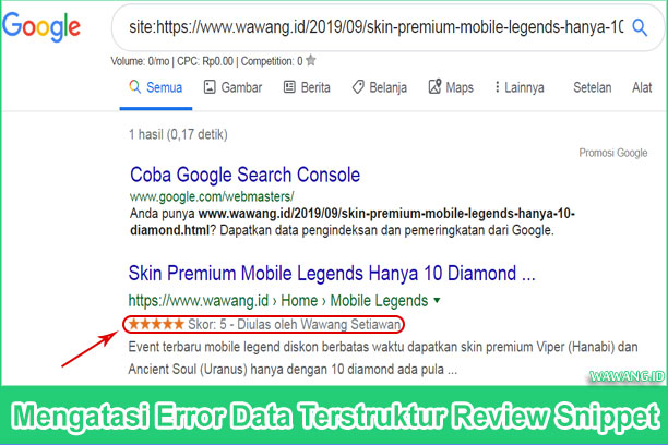 Kesalahan Thing bukan jenis target valid yang dikenali untuk properti itemReviewed