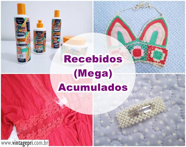Recebidos (mega) acumulados: Rosegal, Dresslily e Embelleze