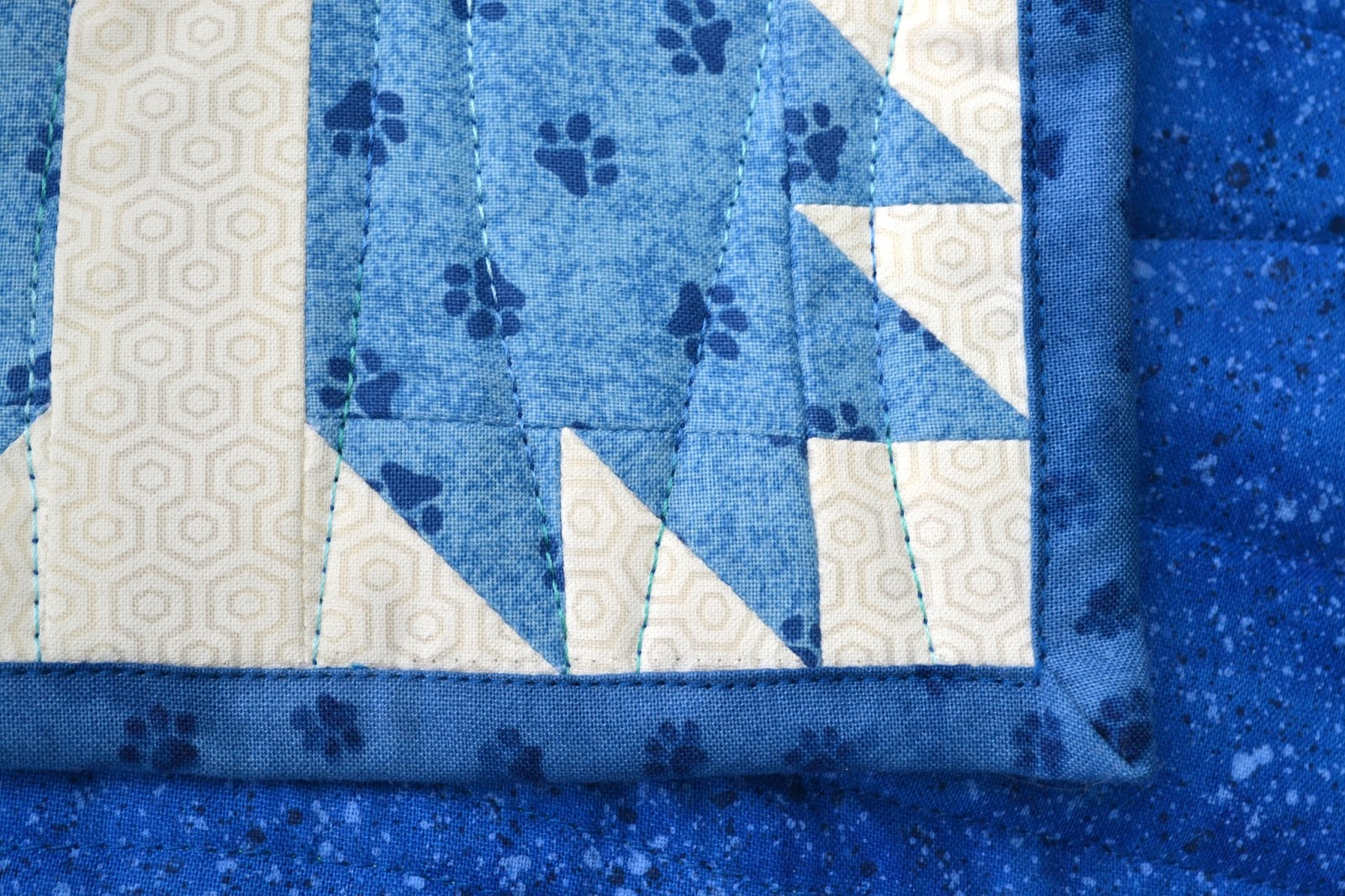 Sew Fresh Quilts Mod Bear Paw Baby Quilt Edition