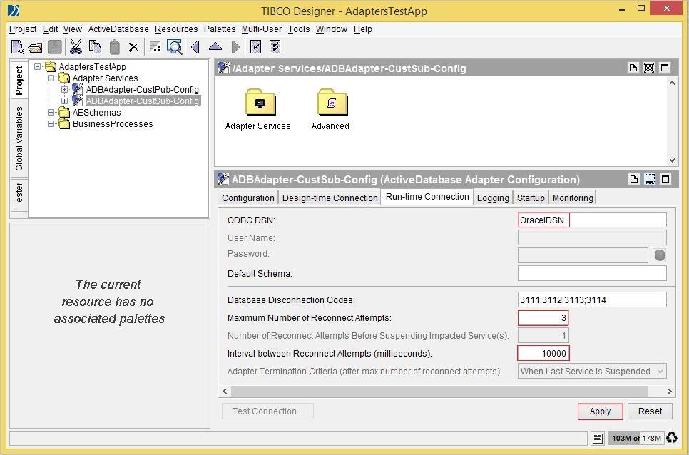 TIBCO ADB Adapter - Subscription service Configuration | Tech's Nib