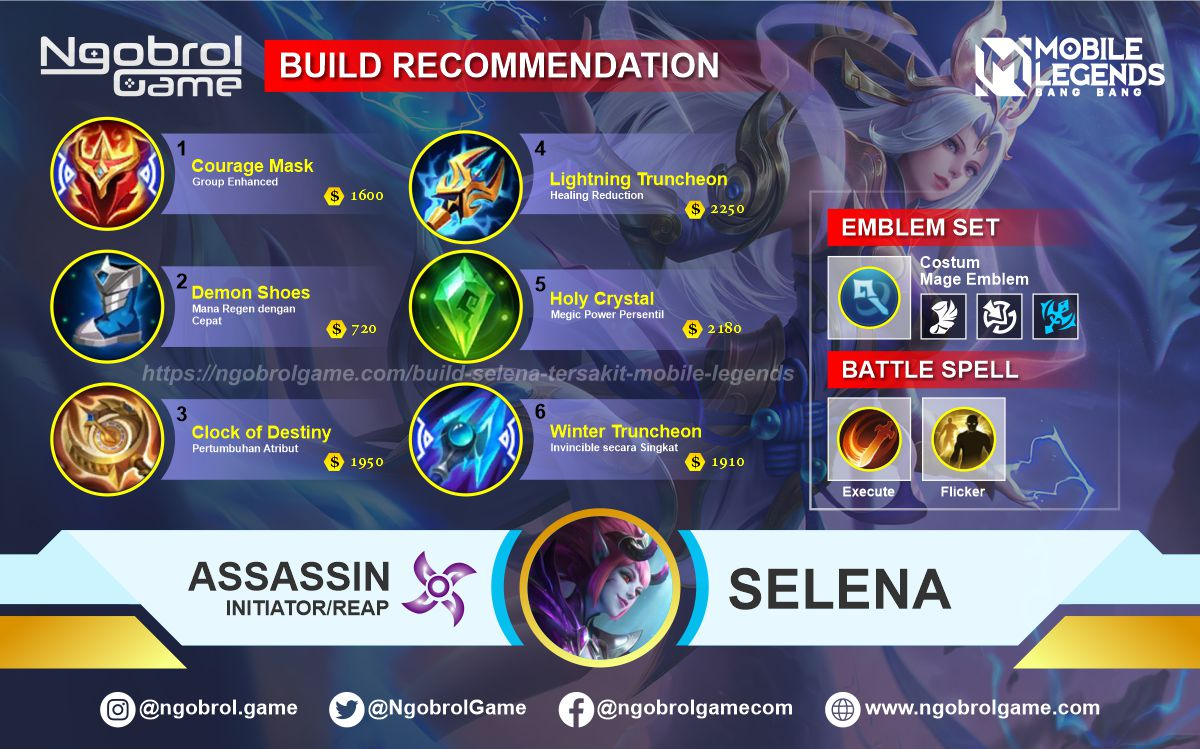 Build Selena Savage Mobile Legends