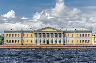 The Russian Academy of Science is based at one of Quarenghi's St Petersburg palaces