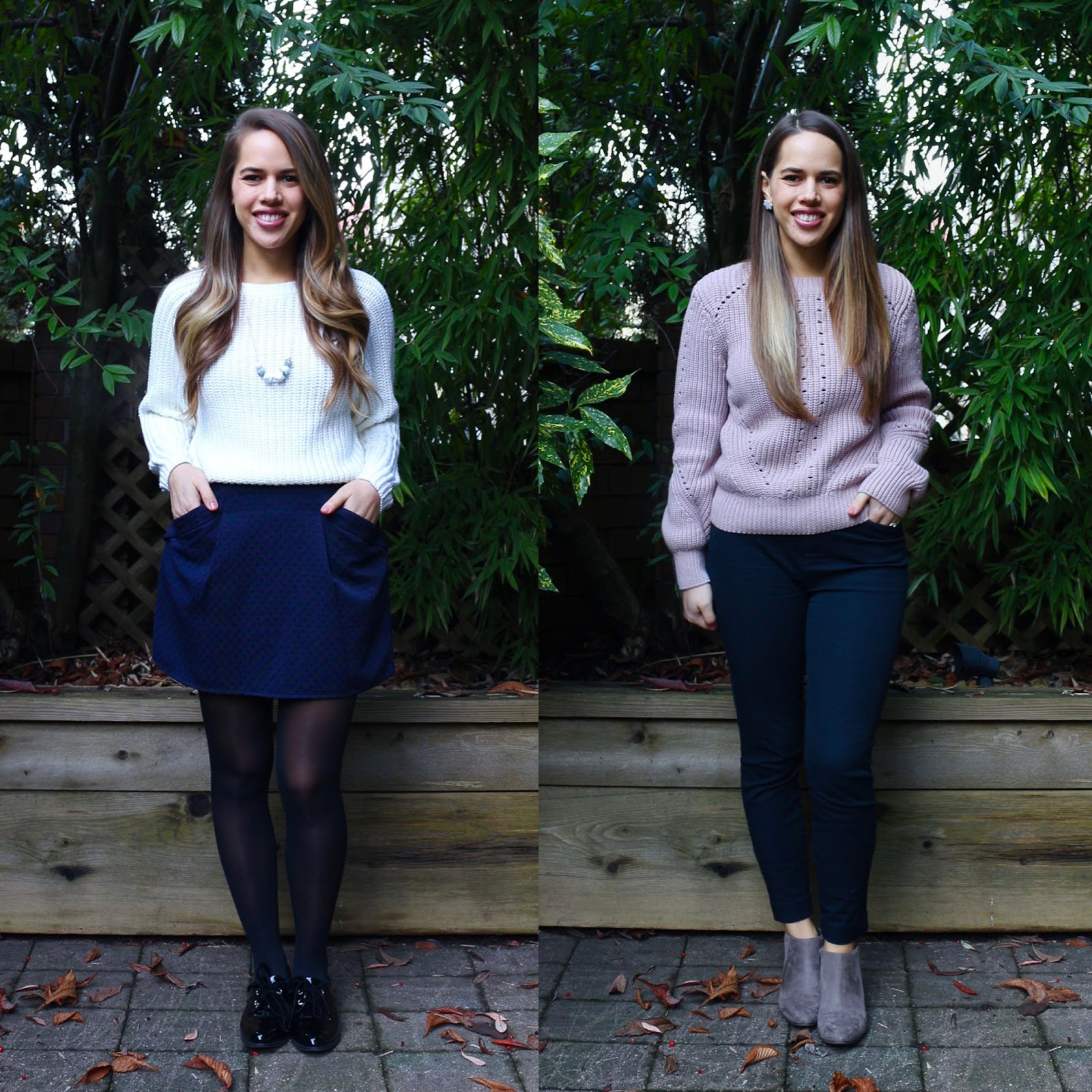 Jules in Flats December Outfits (Business Casual Winter Workwear on a Budget)