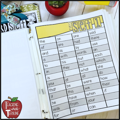 Sight Word Assessments for Fry Lists