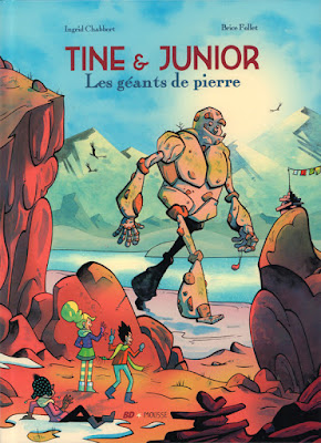 Tine & Junior tome 2 - les géants de pierre éditions Frimousse