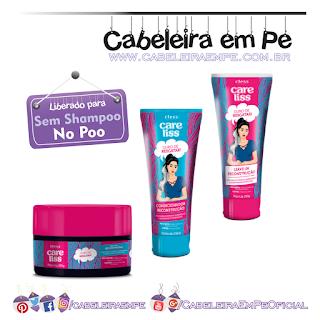 Produtos liberados da linha Duro de Resgatar - Care Liss (Condicionador, Máscara e Creme para pentear liberados para No Poo)