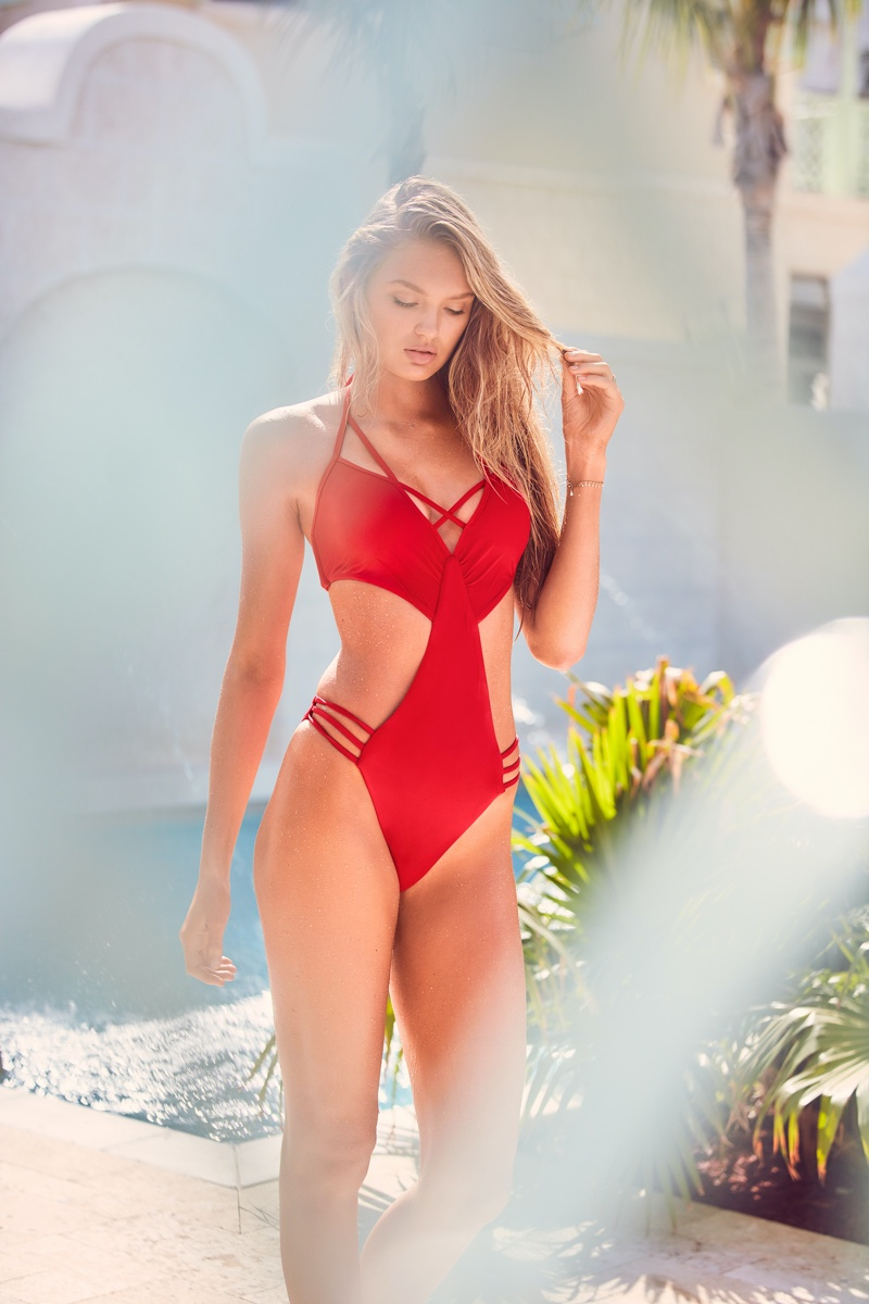 Romee Strijd looks red-hot in Victoria's Secret Swim resort 2019 campaign