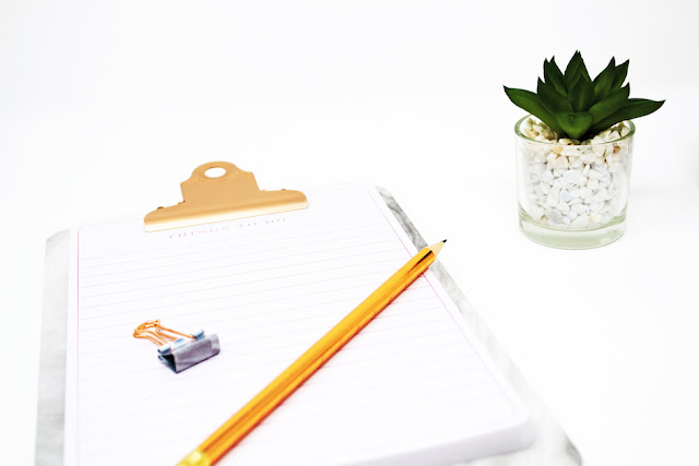 A life update - notepad and succulent flat lay