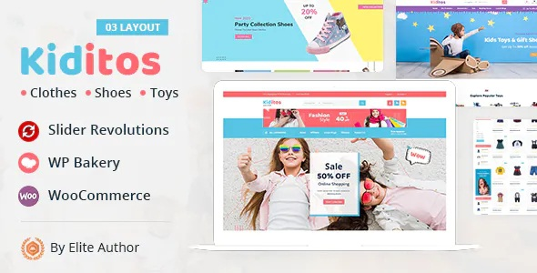 Best Baby and Kids Multi Store WooCommerce Theme