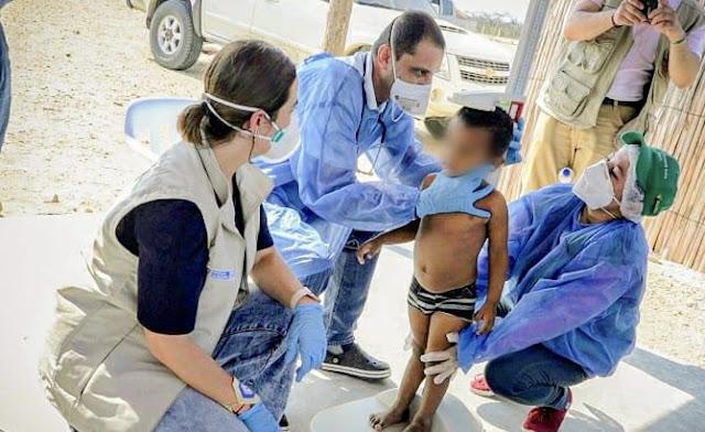 Rescatados tres niños y una joven en lamentable estado de desnutrición en Bahía Honda, Alta Guajira