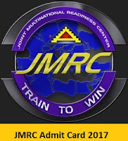 JMRC Station Controller/Train Operator, JE Admit Card 2017