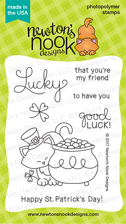 St Patricks Day Cat | Newton's Pot of Gold stamp set by Newton's Nook Designs #newtonsnook