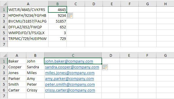 flash fill di Excel