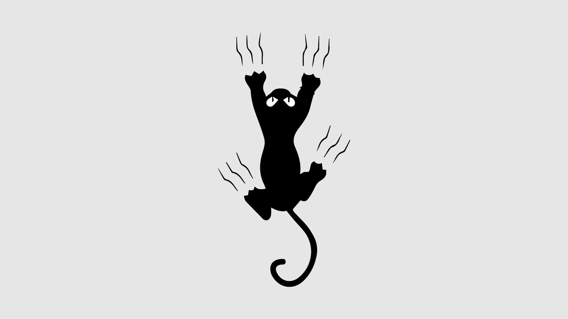cat scratching minimalist wallpaper for macbook laptop mac desktop pc