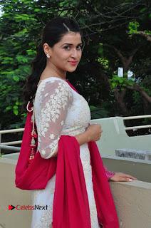 Actress Mannara Chopra Latest Pictures in White Salwar Kameez 0059