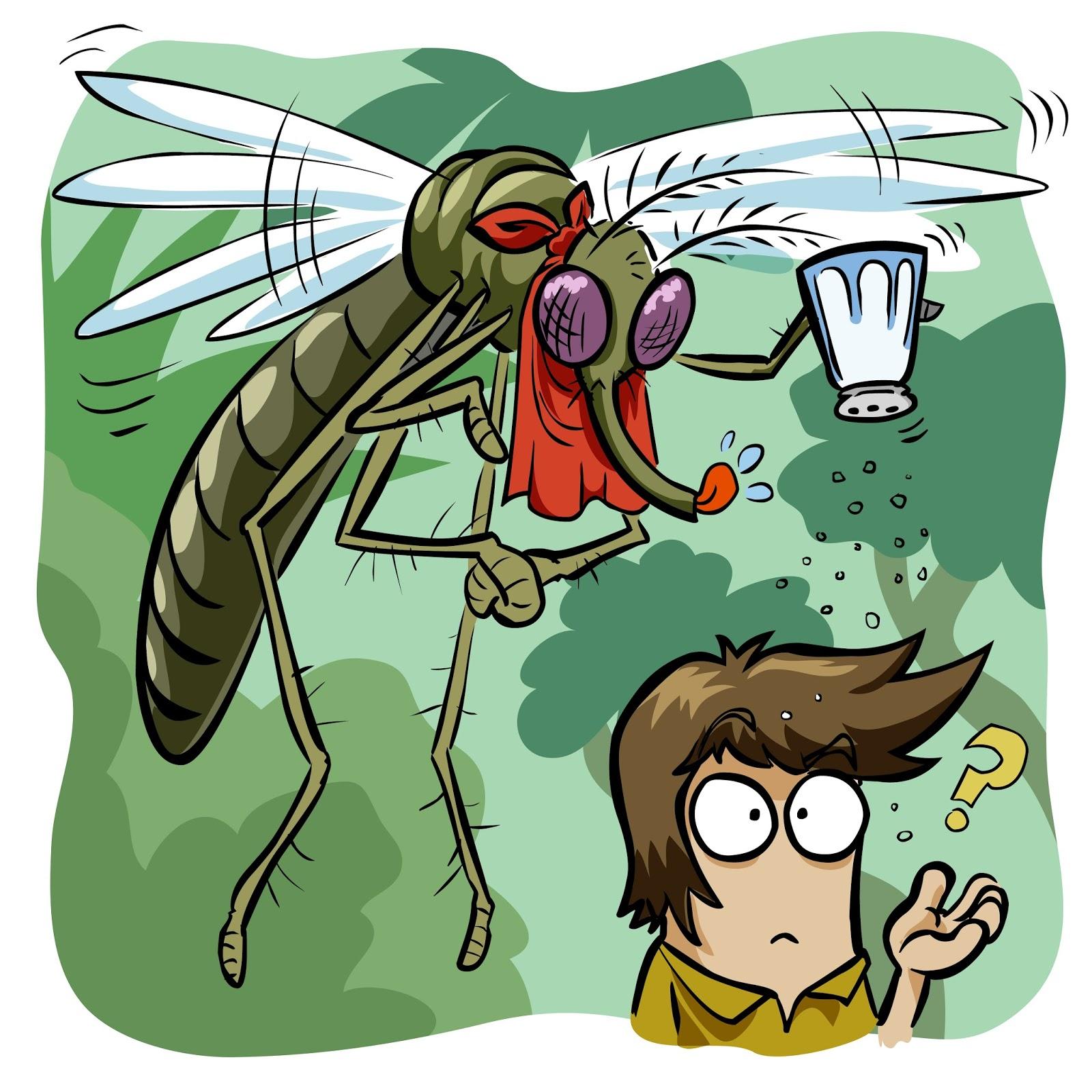 Новогодние открытки, картинка смешных комариков