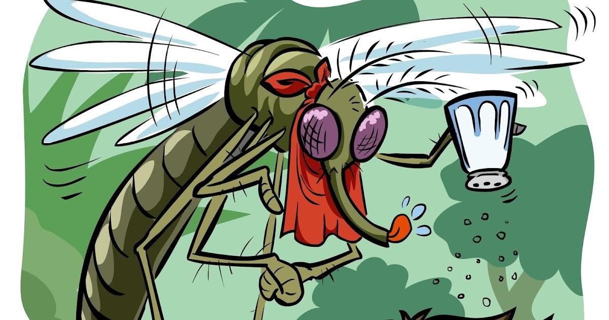Открытка, прикольные картинки от комаров