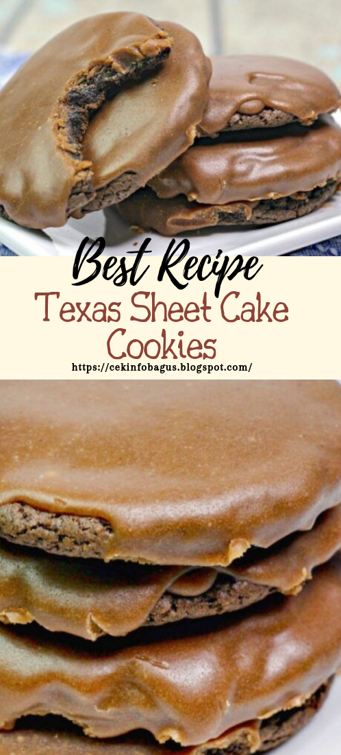 Texas Sheet Cake Cookies #desserts #cakerecipe #chocolate