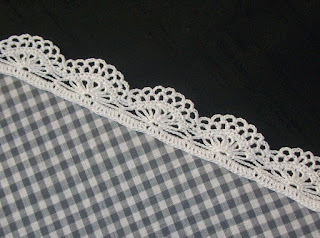 Crochet edging (pattern 1) - Bordura all'uncinetto (schema 1)