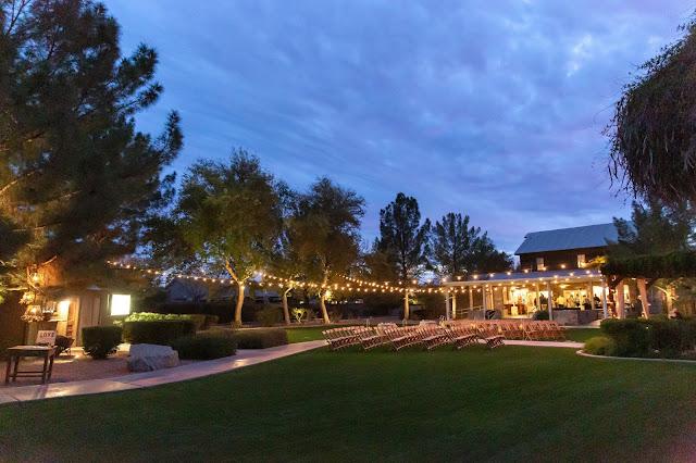 Shenandoah Mill Wedding Night shot of backyard by Micah Carling Photography