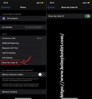 mengaktifkan fitur private number dihp Iphone