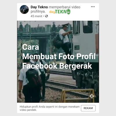Cara mengganti foto profil fb dengan video