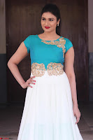 Anjena Kirti in Green and white Anarkali Dress Cute Makeup Latest Pics 020.JPG