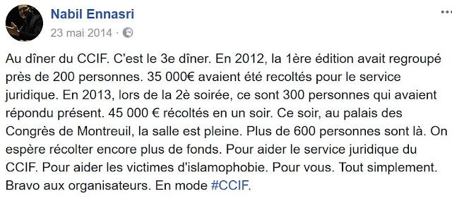 Nabil Ennasri soutient le CCIF