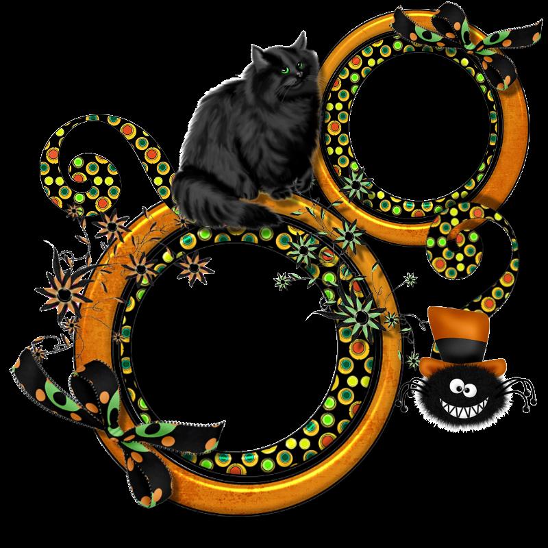 Marco redondo de Halloween doble