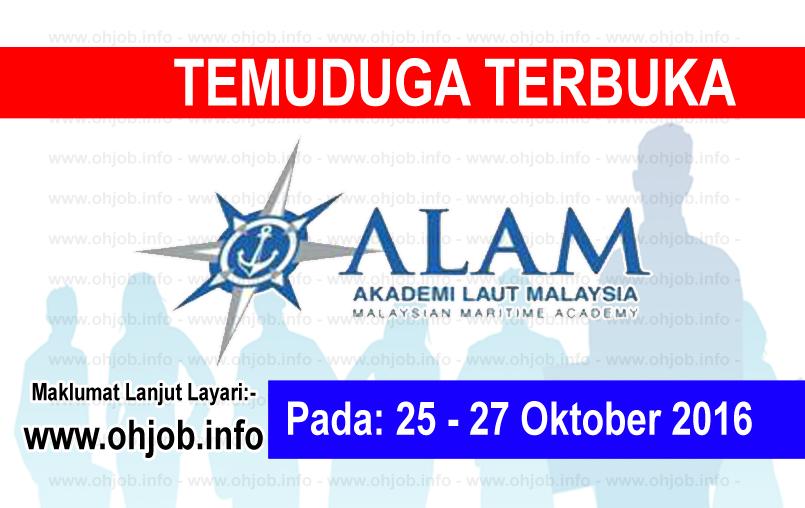 Jawatan Kerja Kosong Akademi Laut Malaysia (ALAM) logo www.ohjob.info oktober 2016