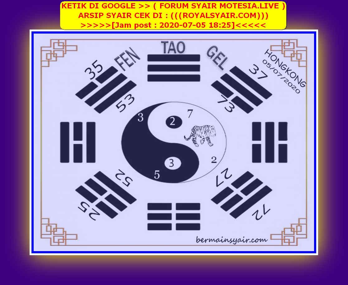 Kode syair Hongkong Minggu 5 Juli 2020 132